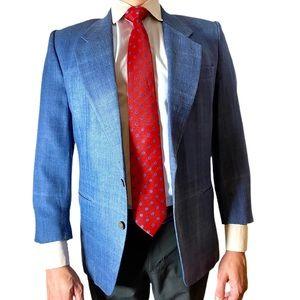 Countess Mara Vintage Denim/Silk Men's Suit Jacket